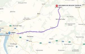 маршрут эвакуатора в казани: с. Шемордан - г. Казань (130 км), буксир 24