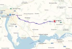 маршрут эвакуатора в казани: М-7 - г. Казань (56 км), буксир 24